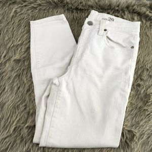J.Crew Lookout High Rise Crop White Jeans Size 29